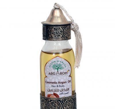 huile d'argan cosmetique corps et cheveux